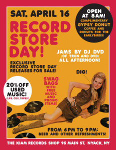 Record Store Day Kiam Records Shop 2016