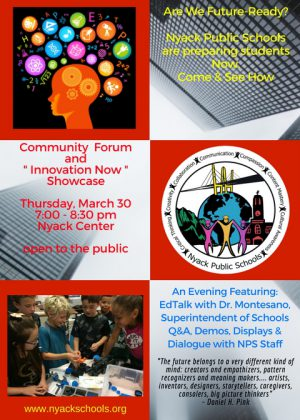 """Community Forum and """"Innovation Now"""" Showcase"""